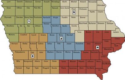 map of ag engineering field specialists -- click on map