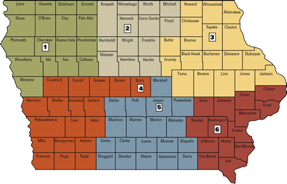 map of swine field specialists - click on map